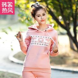 2014冬装新款女装韩版学生春季加厚加绒保暖套头卫衣百搭女外套潮