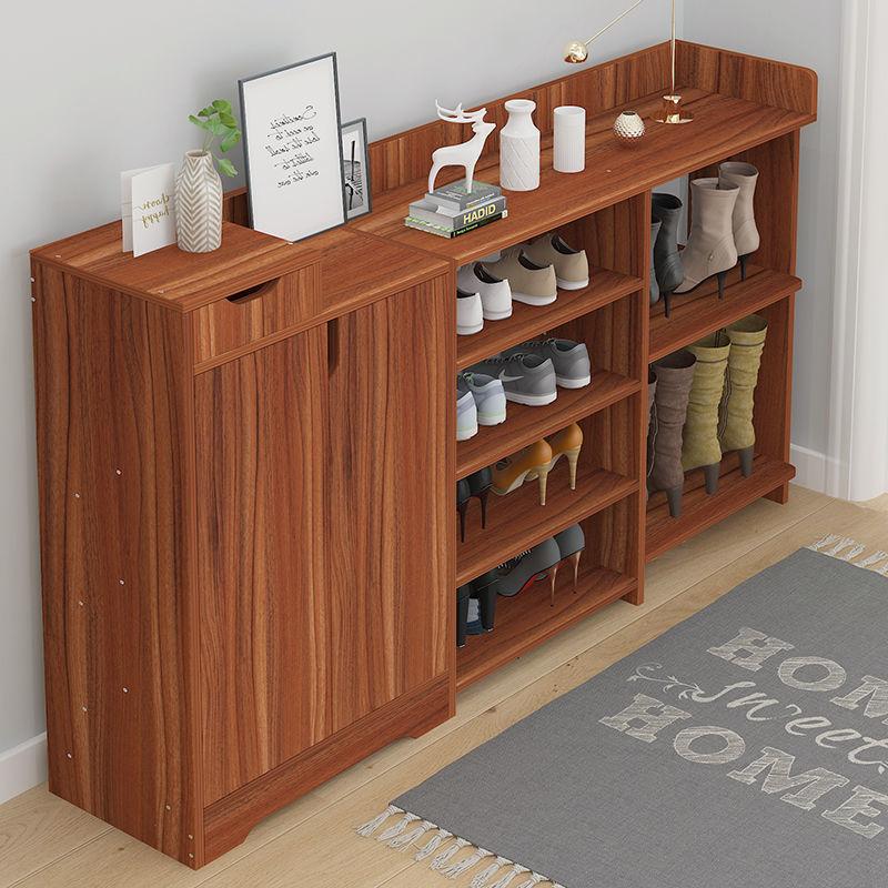 鞋柜门口简约现代防尘仿实木收纳柜架门厅客厅鞋架子简易多层
