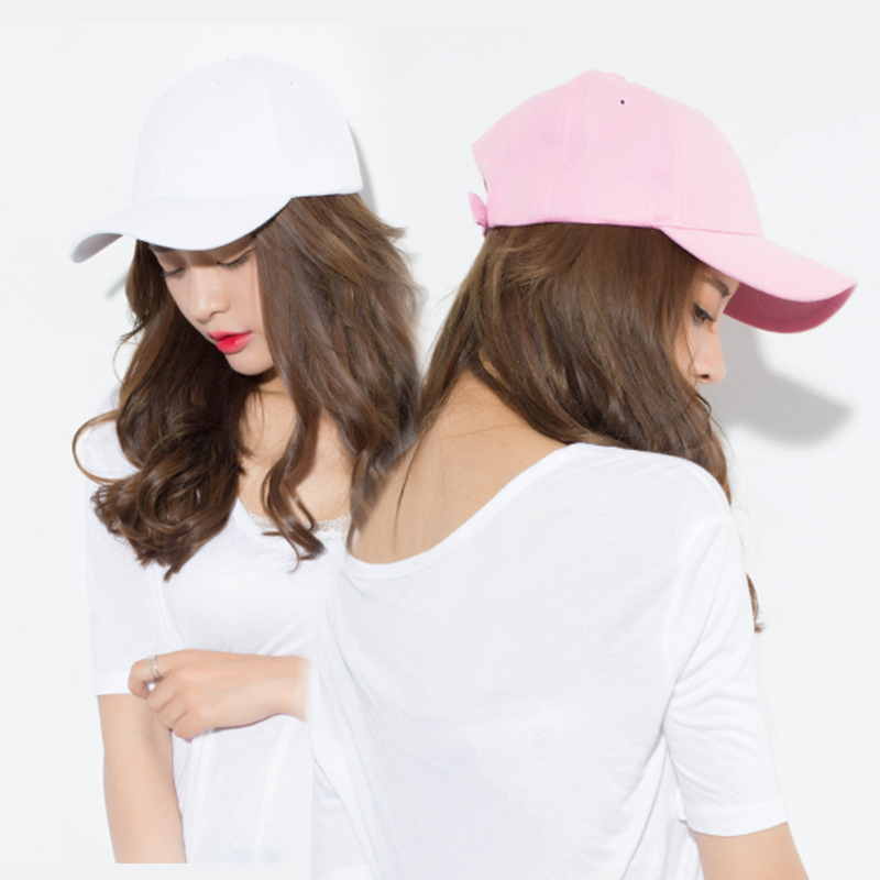 Solid color curved eaves lovers cap men and women shopping in summer baseball cap hip hop camping sunshade hat
