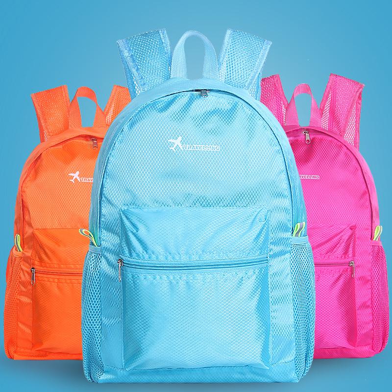 Мода легкий рюкзак кожа super pack свет сложить портфель большой потенциал портативный путешествие рюкзак восхождение пакет мужской и женщины