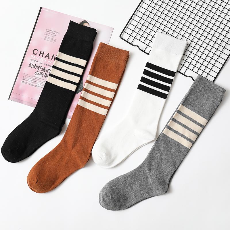 小腿袜及膝长筒女袜夏秋季薄款学院风日系韩版高筒运动棒球潮袜子