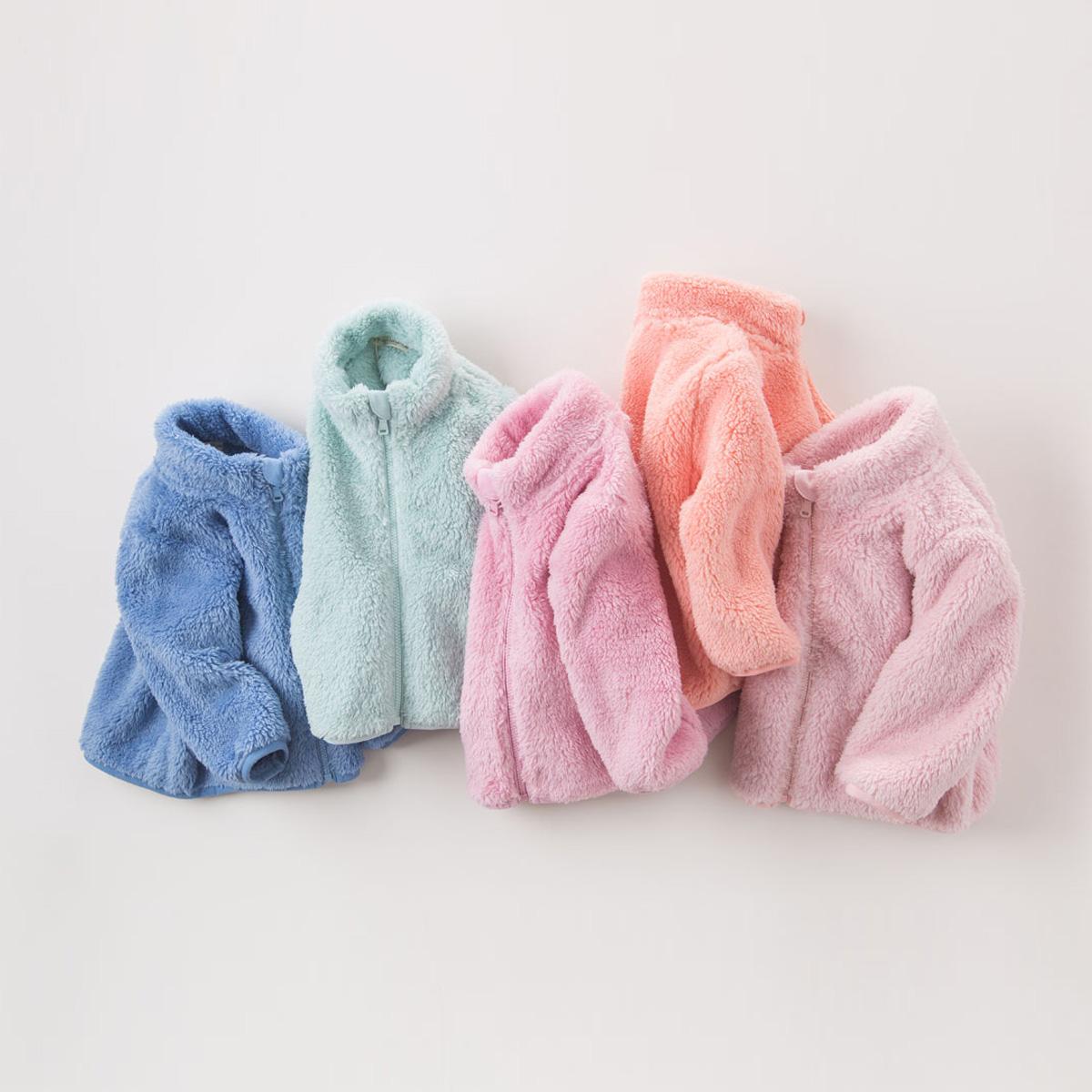davebella 戴维贝拉 男女童冬季外套 宝宝毛绒长袖外套 84.1元(10元定金,双11付尾款)