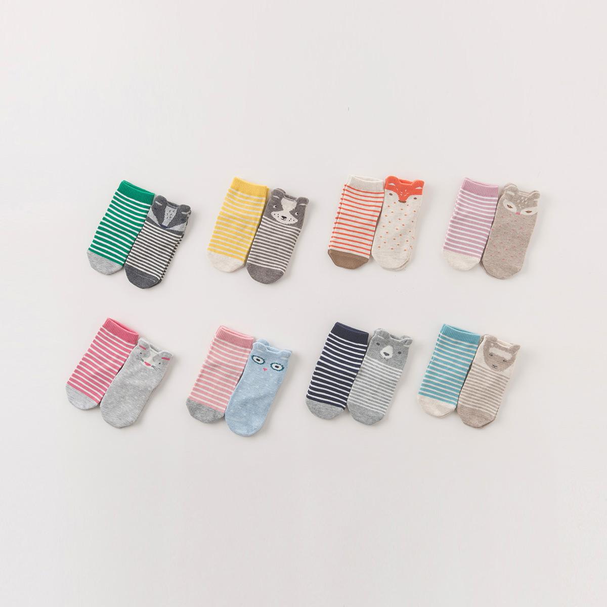 ~兩雙裝~davebella戴維貝拉2017秋 兒童卡通短襪DB6106