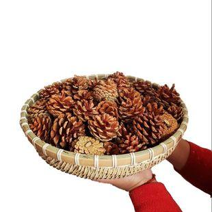 包郵天然松果裝飾 手工製作樹葉松球聖誕松果乾花拍攝道具diy材料