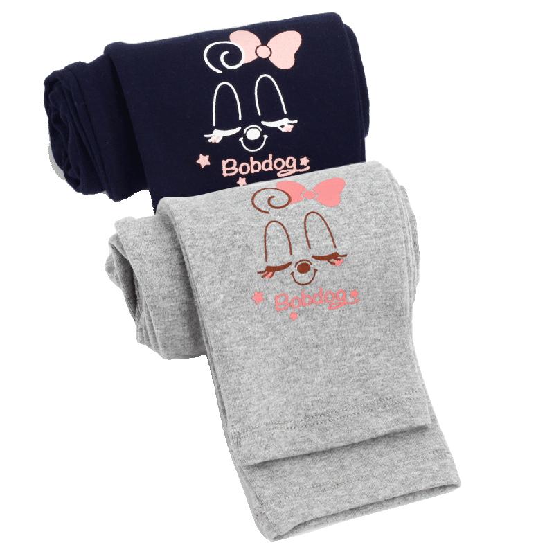 巴布豆女童裤子儿童打底裤春秋薄款纯棉秋季外穿3岁5-7宝宝女小童