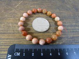 7954号 新疆罗布泊红色蛋白石手链 手串 20颗 7mm珠子 17cm长图片