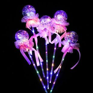 新款网红波波球魔法棒发光棒闪光棒儿童发光玩具地摊夜市货源批发