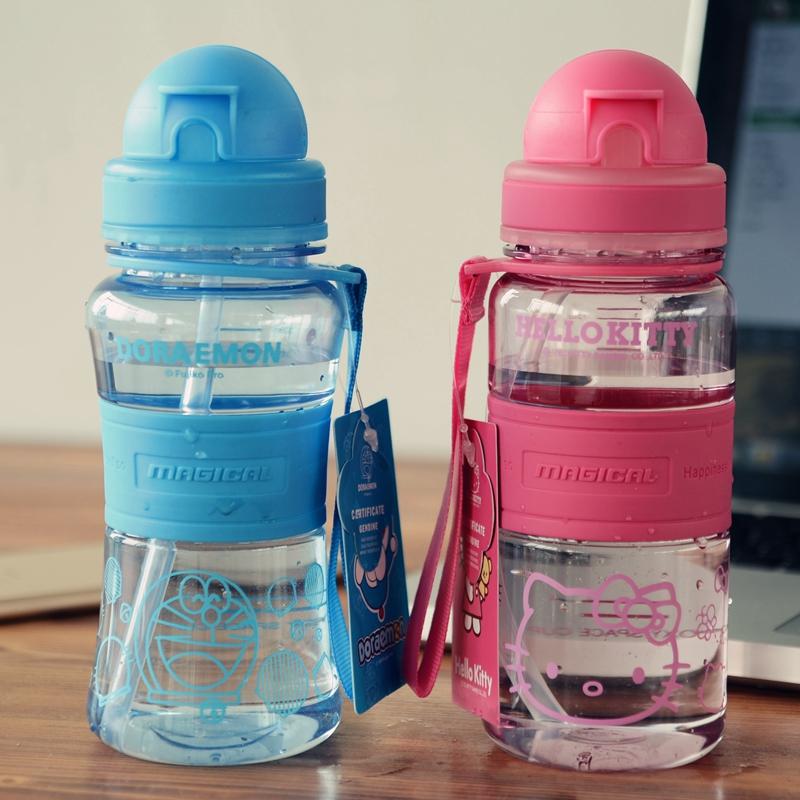 便携防漏随手杯哆啦a梦 Kitty 塑料学生杯子儿童孕妇成人吸管水杯