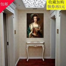 欧式玄关桌轻奢条几美式玄关柜靠墙桌半圆玄关台走廊柜端景门厅柜