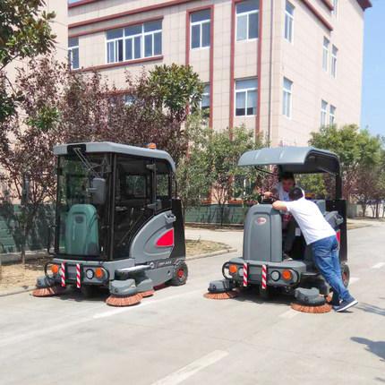上海高美全封闭扫地机电动自卸垃圾清扫车广场公园道路吸尘扫地机