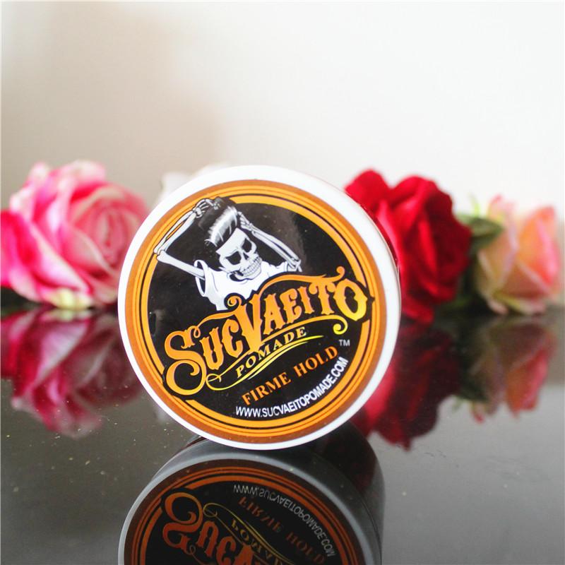 包邮SUCVAEITO POMADE骷髅头复古发油大背头保湿头发造型发蜡发泥