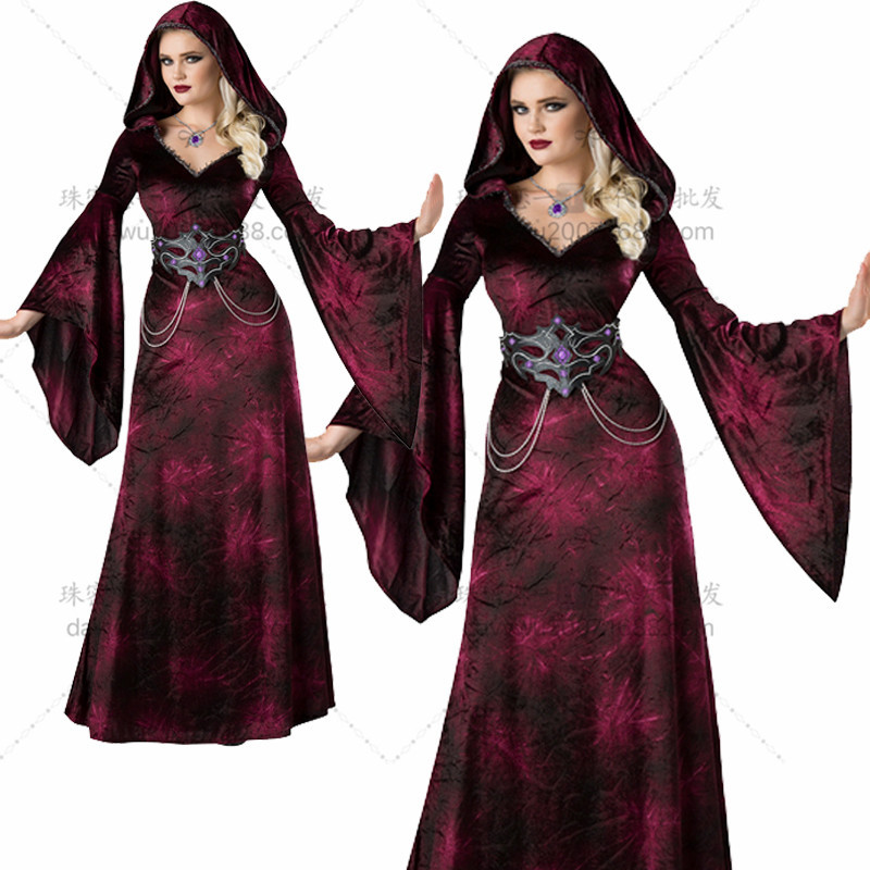 Zhu Mi's love for Halloween role play dead Witch Dress horror vampire bar DS stage performance Costume