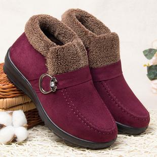老年人冬鞋加绒北京中年女士冬天靴