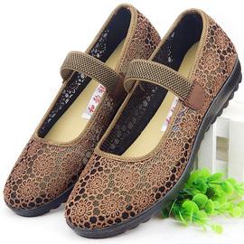 老太太鞋奶奶鞋老人布鞋女软底老北京凉鞋夏天老年鞋子夏季防滑鞋