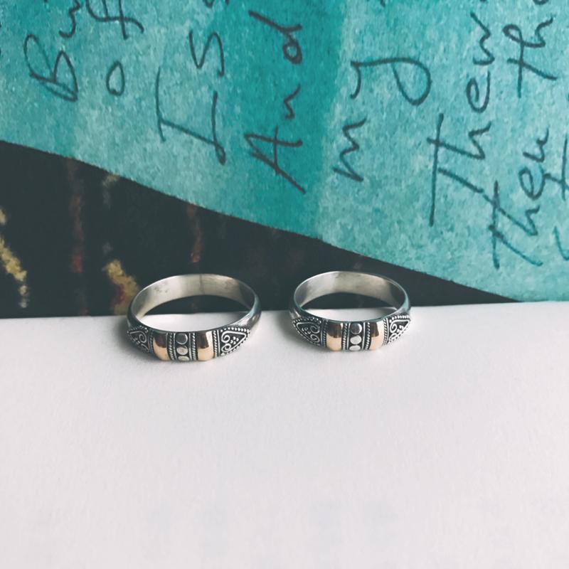 愿你十八岁所爱是八十岁所依丨巴厘岛手工银戒指情侣对戒925