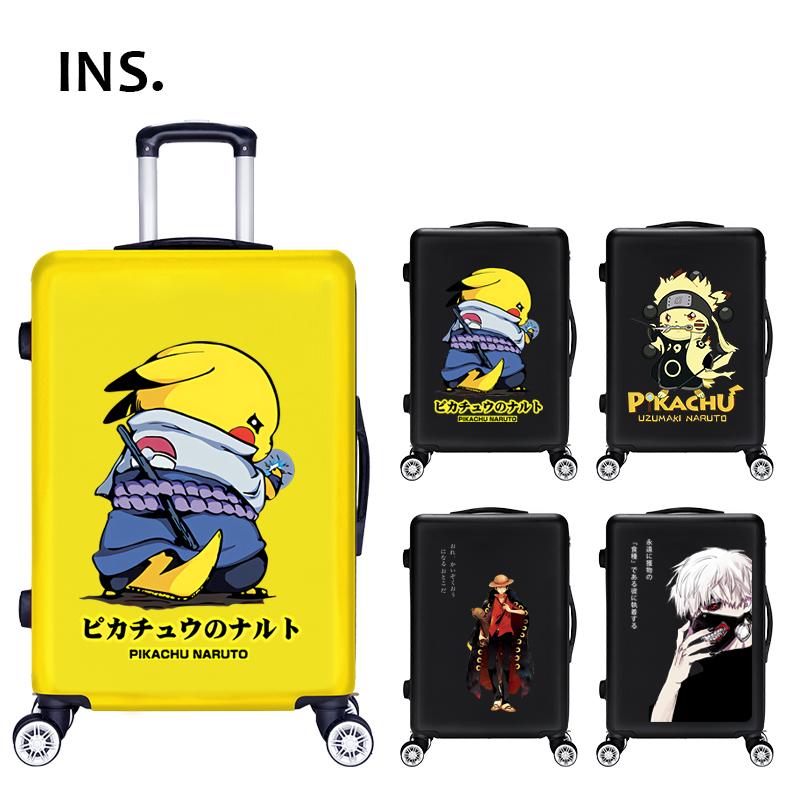 卡通动漫行李箱男儿童拉杆箱万向轮可爱小孩学生密码旅行箱包20寸