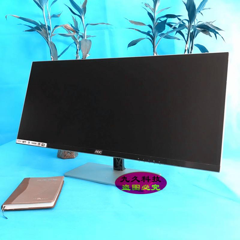 AOC34寸带鱼屏Q3477FQ ips无边框2K电脑液晶显示器21:9 音响32 4K
