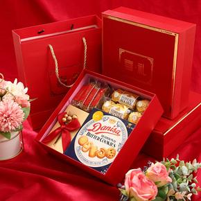 结婚喜糖成品含糖果 中国风婚礼伴手礼订婚礼盒装实用