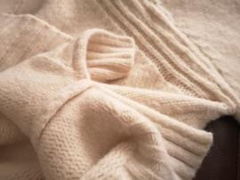 晴子老客必入的针织货 灰蓝绿 连帽毛衣针织卫衣 宽松版女上衣图片