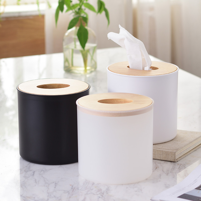 Простая барабанная коробка для ткани Творческая подставка для салфеток корпус Тканевая коробка
