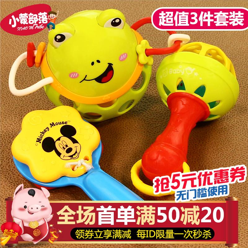 软胶球 手拍器婴儿玩具手摇铃宝宝玩具0-1岁软胶硅胶0-3-6-12个月