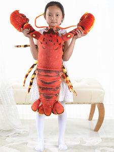 仿真小龙虾毛绒玩具公仔皮皮虾布娃娃抱枕玩偶爱情公寓同款大号