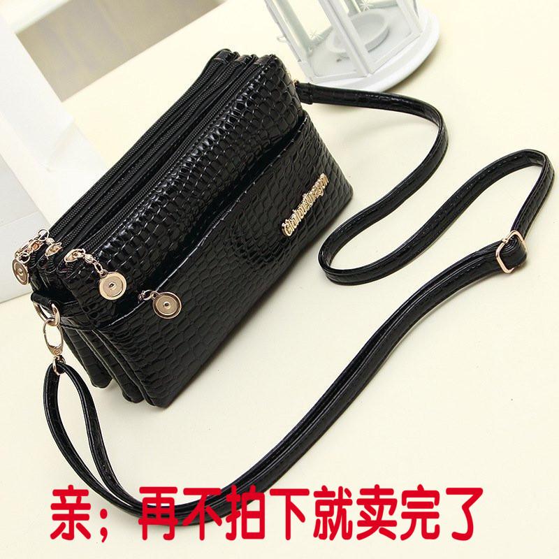 ワニの3つのファスナーの0財布の女性バッグの斜めのショルダーバッグの多機能なショルダーバッグのファスナーは長めの0財布の女性を持ちます。