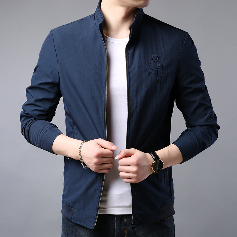New 2020 spring Korean mid youth mens jacket business leisure fit mens jacket autumn fashion