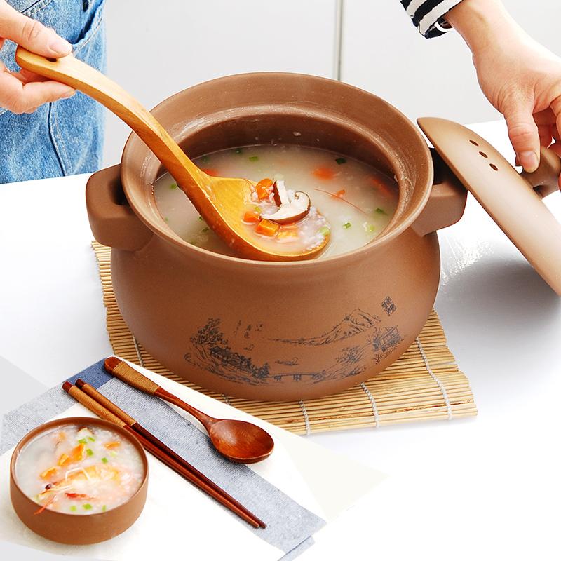 砂锅炖锅陶瓷煲汤家用无釉燃气瓦煲煎药土沙锅紫砂煤气灶专用石锅券后105.90元