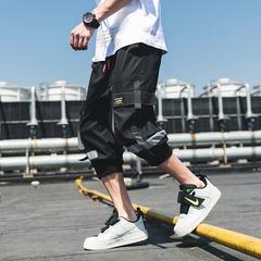 天台黑色 夏季薄款七分裤男工装休闲裤子潮B275-1213-P50锦90氨10