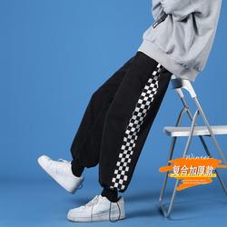 2020秋冬款 蓝墙加绒灯芯绒黑色运动裤卫裤A061-K1880-P50