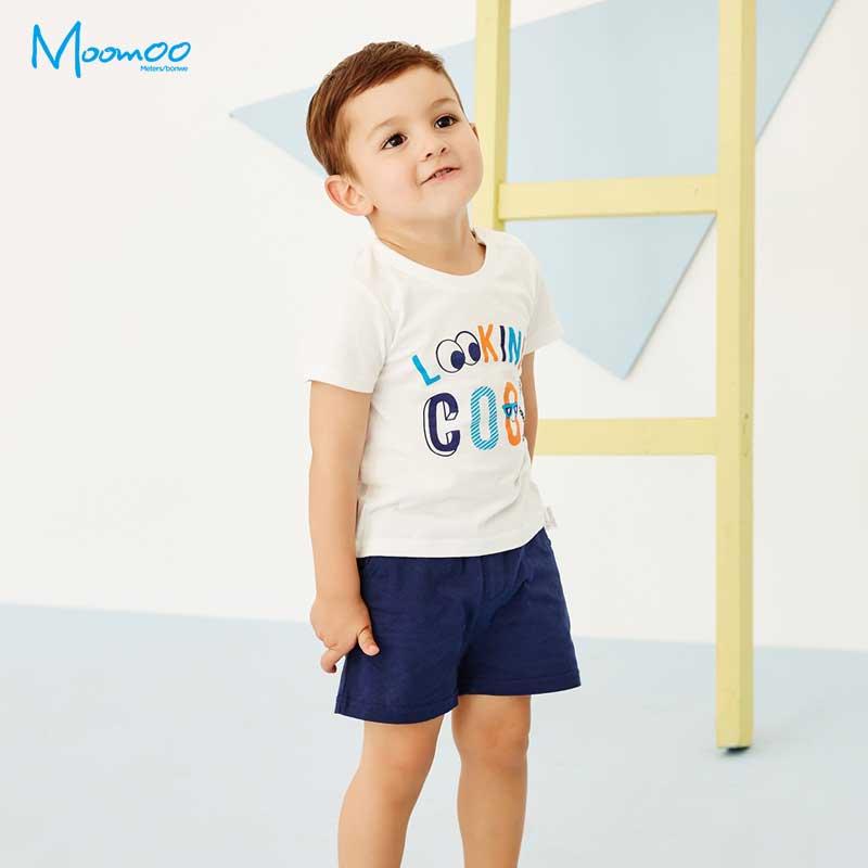 Moomoo Momo childrens wear 2 boys set 2018 summer 3 baby childrens short sleeve shorts 2-piece set 4