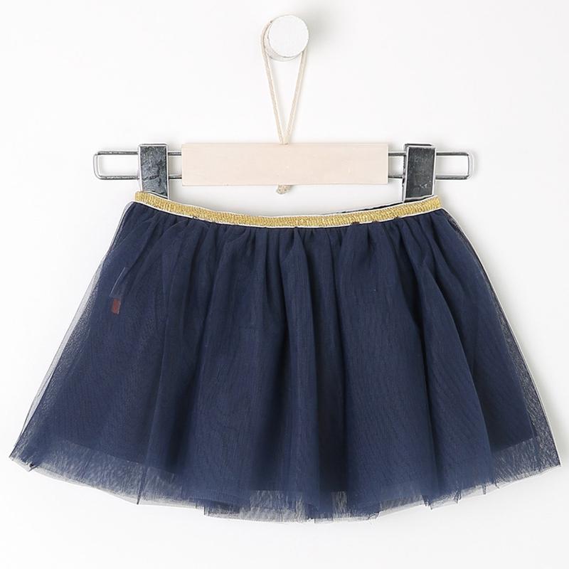 Moomoo childrens Dress Girls short skirt summer dress new 2018 baby net solid color skirt
