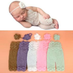 新生兒攝影服裝頭飾揹帶褲寶寶拍照衣服嬰兒滿月照道具影樓月子照