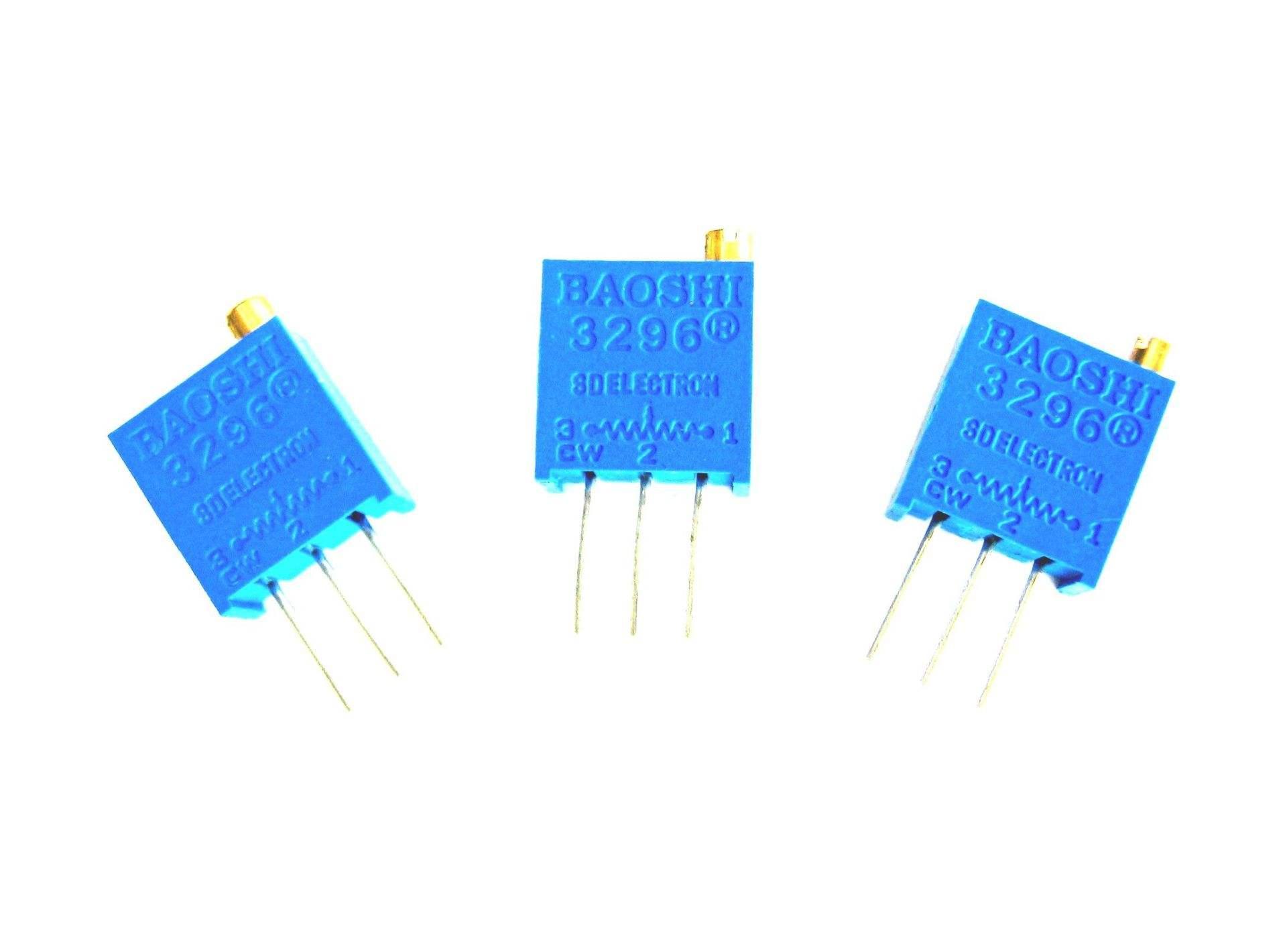 3296 прецизионный многооборотный регулируемый резистор / потенциометр с несколькими характеристиками дополнительно 1K 2K 5K 10K 200K 100
