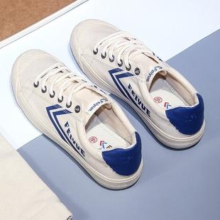 飞跃复古米色潮鞋 939 男女透气硫化鞋 复古情侣软底帆布鞋