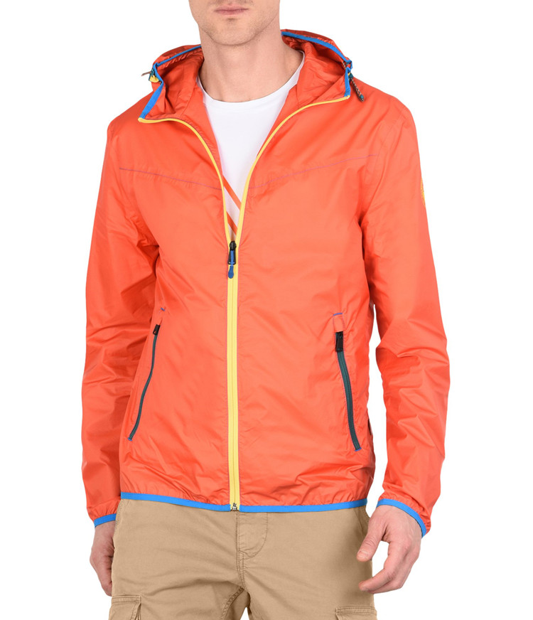 Napapijri geographic outdoor wind and rain proof storage hooded thin jacket for mens skin