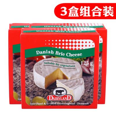 丹麦进口琪雷萨必然干酪 芝士布里即食烘焙原料BrieCheese125g*3限3000张券