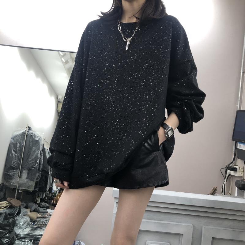 (用5元券)欧洲站2019早秋新款韩版亮片女卫衣