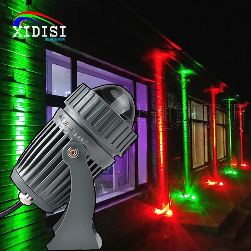 11月30日最新优惠LED一束光射灯聚光灯户外防水远射灯外墙灯罗马柱灯超亮远程射灯