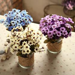 仿真花套装客厅餐桌假花摆件绢花塑料花工艺品摆设绿植物小盆景