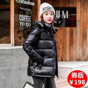 短款羽绒服女加厚亮面女装反季特价新款爆款韩版超厚女冬季外套潮