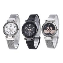 2019促销新款韩版简约休闲国产腕表学生磁铁带网红学生女便宜手表
