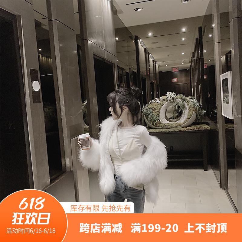 Eychic leaf 2020 winter new imitation mink fur grass coat womens short fur integrated fur coat