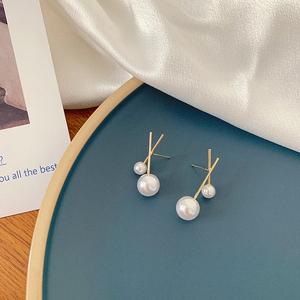 珍珠纯银针耳钉2021设计感耳环2020年新款潮简约小巧气质耳饰品女