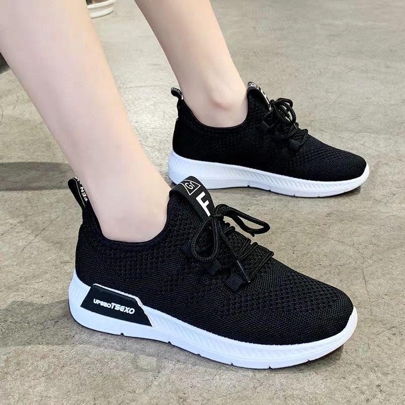 亏本冲量新款运动鞋女鞋透气百搭休闲跑步飞织健身工作鞋软底防滑