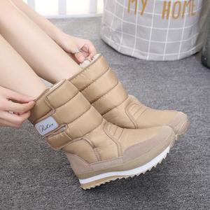 冬季新款短靴加绒雪地靴防水加厚保暖棉鞋女靴子中筒厚底学生女鞋