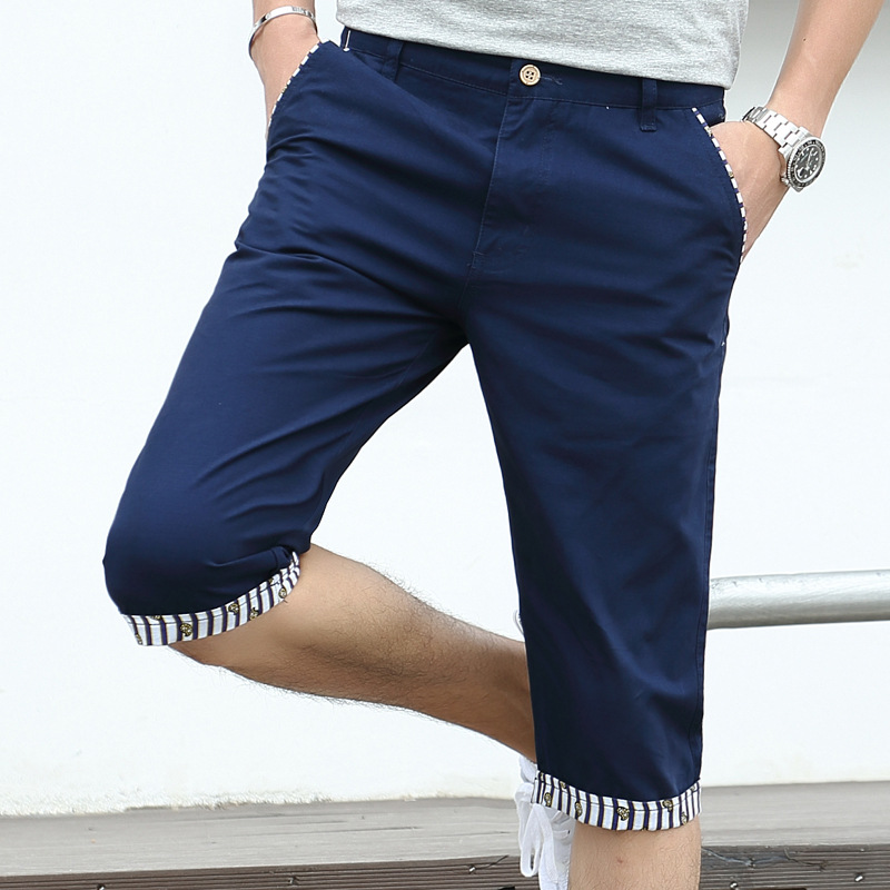 Fashion brand hot summer new mens Capris junior breeches mens shorts pure cotton casual shorts