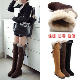 东北雪地靴抗寒加厚女鞋棉靴女中长款靴子冬加绒过膝靴筒大棉长靴