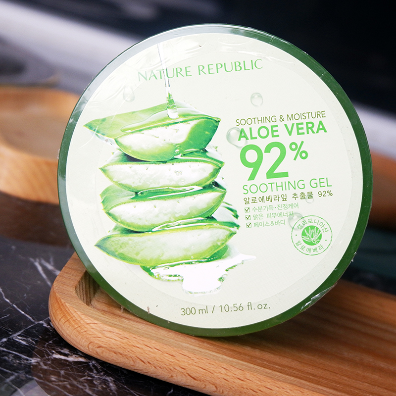 韩国Nature Republic纳益其尔芦荟胶 嫩白保湿祛痘印面膜晒后修复